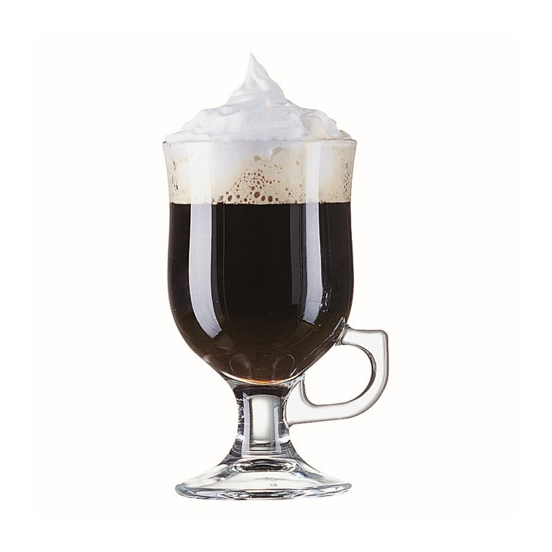 irish coffee glas auf fu mit henkel 25 cl. Black Bedroom Furniture Sets. Home Design Ideas
