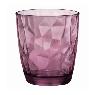 Bormioli Rocco, Diamond Rock Purple Acqua, Ø 84 mm, H: 92,5 mm, Inhalt: 30,5 cl