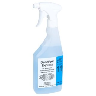 DesoFekt Express Spray-Desinfektionmittel, 500ml Flasche mit Pump-Sprayer